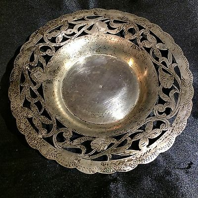 "ONE Fine Persian/Turkish Ottoman Silver 7"" Plate 19 Century Ornate 112g S 800"