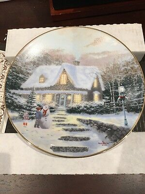 "Thomas Kinkade Plate ""Home to Grandmas"""