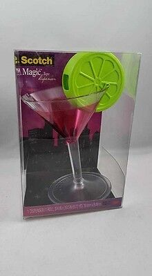Scotch Magic Tape Dispenser Martini Glass With Lime Cosmo Free Shipping Here!