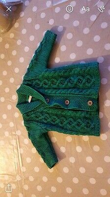 Baby Boys Next Knitted Cardigan Jumper 0-3 Months
