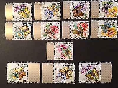 1967 - Fujeira - Butterflies - Full set - Stamps