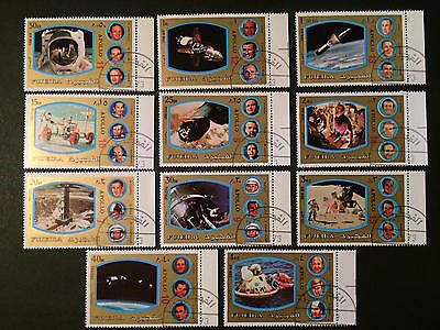 1973 - Fujeira - Apollo Flights  - Space - Stamps