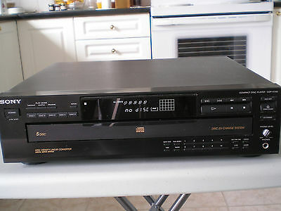 Sony CDP-C3355 Compact Disc Player 5 Disc Changer with remote