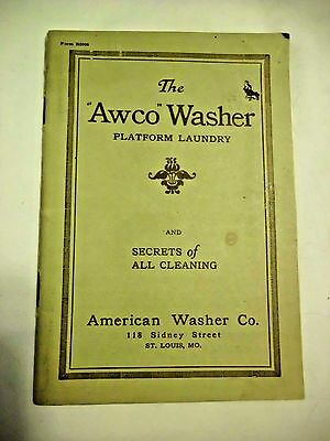 1920s Awco Washer Instruction Booklet