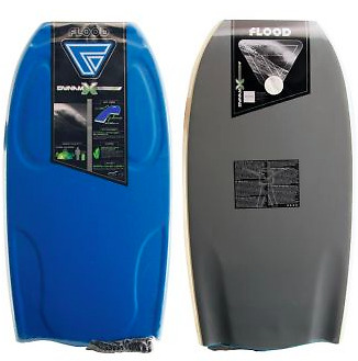 "Bodyboard Flood Dynamx 42"" Blue Grey + Leash"