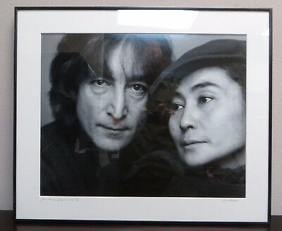 John Lennon and Yoko Ono JACK MITCHELL Signed Gelatin Silver Photograph #2 of 75