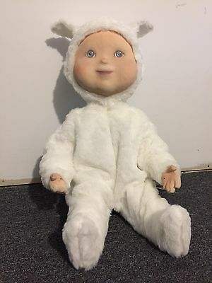 RARE Hamberger Animated Mechanical Easter Store Display Boy Lamb