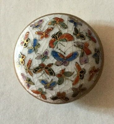 Abundance Of Butterflies Medium Size Old Satsuma Button Butterfly Colorful
