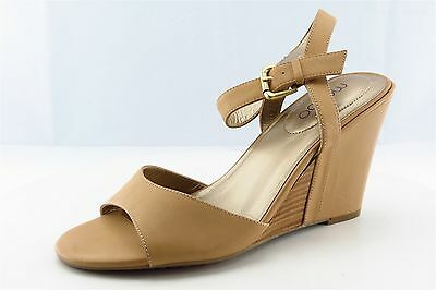 Me Too Lucie Ankle Strap Brown Leather Women Size 9 Medium