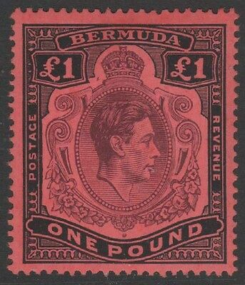 BERMUDA KGVI 1943 Issue £1 Keyplate Scott 128  SG121c  Never Hinged cv £60