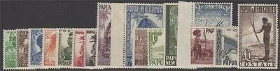 PAPUA NEW GUINEA KGVI 1952-58 Set of 16 Values SG1-15 Never Hinged cv £85
