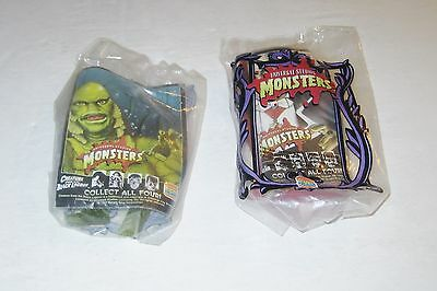 Burger King 1997 Universal Monsters Creature and Dracula Figure MIP Lot of 2