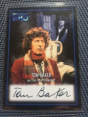 Doctor Who Series Two Tom Baker as the 4th Doctor AU2 Autograph Card