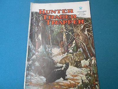 Hunter Trader Trapper Magazine January 1935, Hunting, Trapping, Fishing, Traps