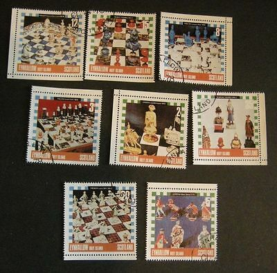 8 Chess Stamps: Eynhallow. Scotland. 1978. Special cancellation