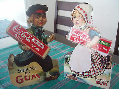 Coca-Cola Gum Pack Dutch Boy and Girl Stand-up Display