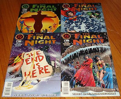 1996 DC The Final Night 1 2 3 4 Full Set 1st Prints JLA
