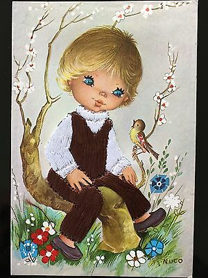Very Rare ('possibly one of a kind') Vintage Embroidered Postcard