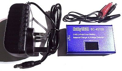 BC-4S Balance Through charger & Voltage Checker 2-4s LiPo 1.5A 30w with UK Plug