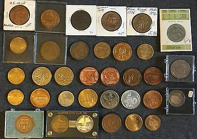 Commemorative Medals and Tokens Rare Collectible Lot of 34