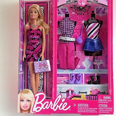 New in Box Barbie and Fashion Accessories 3 Outfits Accessories 11 Inch Doll