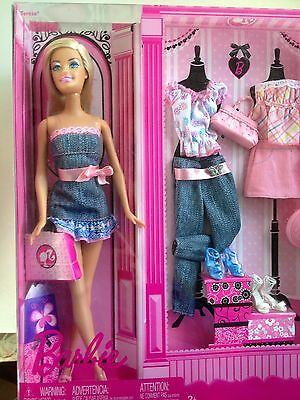 New Sealed Barbie Doll PINK 2008 Boutique 3 Fashions Accessories 11 1/2 In Doll