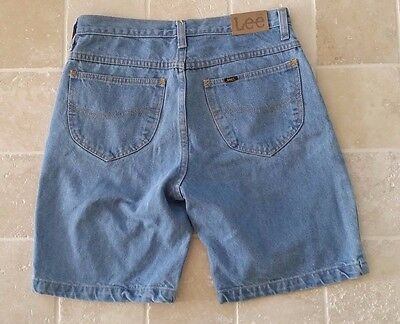 Men's Lee Light Blue Denim Shorts Size 34 Rrp $90