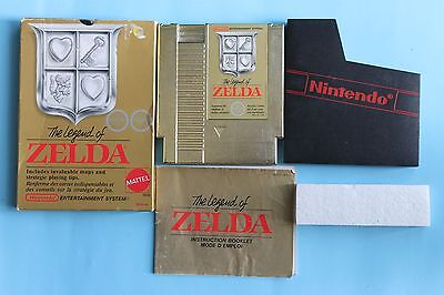 The Legend of Zelda (Nintendo Entertainment System, 1987) ORIGINAL 2 HEART BOX