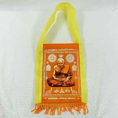 Holy Bag Talisman LP Tuad Thai Amulet Phra Yant Cloth Lucky Rich Powerful
