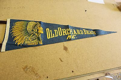 Old Orchard Beach , Maine Pennant Flag 50's- 60's