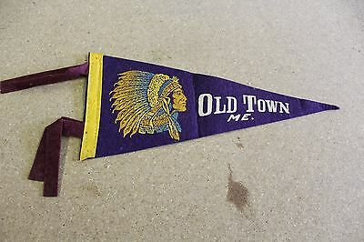 Old Town Maine Pennant Flag 50's-60's
