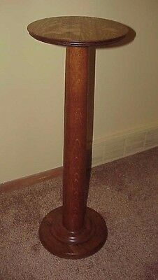 Antique Quarter Sawn Oak Pedestal Plant Stand