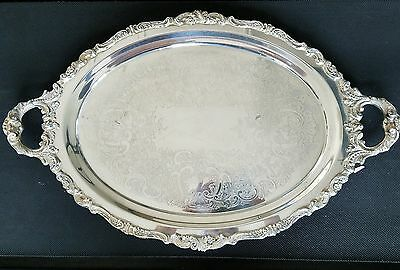 Large Wallace Baroque Footed Service Tray W/Handles-294F