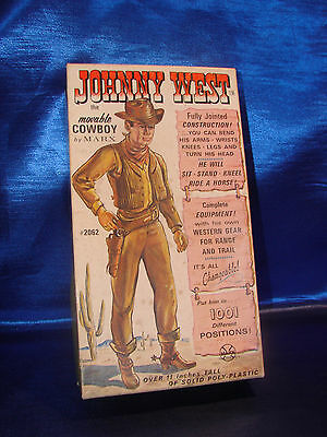 Vintage Marx Johnny West Movable Cowboy Action Figure Empty Box Only #2062