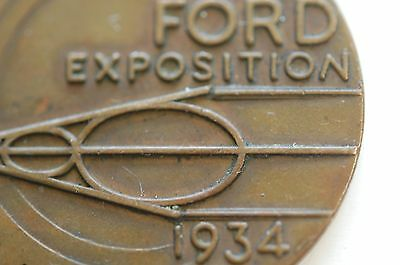 Chicago World's Fair COIN 1934 Ford Exposition - Nifty Graphics!
