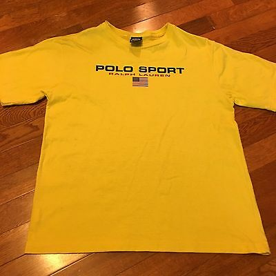 Boy's Polo Sport Ralph Lauren Spell Out T-Shirt, Size S, Yellow, Short Sleeves
