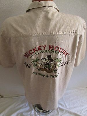 Mens Disney Parks Hawaiian Button SS Shirt - Size S - Mickey Mouse in Paradise