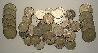 Collection Lot Canada 80% Silver Coins**$6.50 Face**Take a Look**