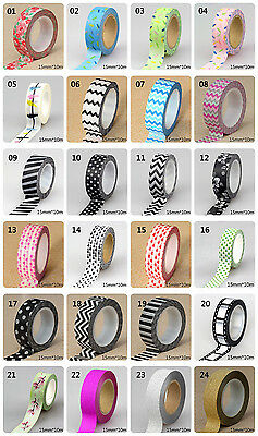 1pc 15mm * 10m Cute Patterns of Love ,flowers,animals black colors Washi Tape