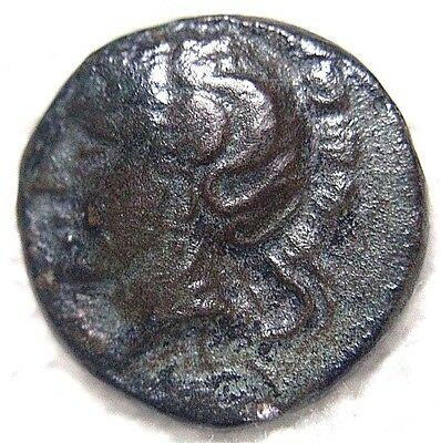 Pharsalos, Thessaly Athena / Horseman 450-400 Bc Scarce Variety, Authentic Greek