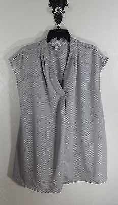 Liz Lange Maternity Shirt-Sleeveless-Thin-Lightweight-Gray-Print-Large