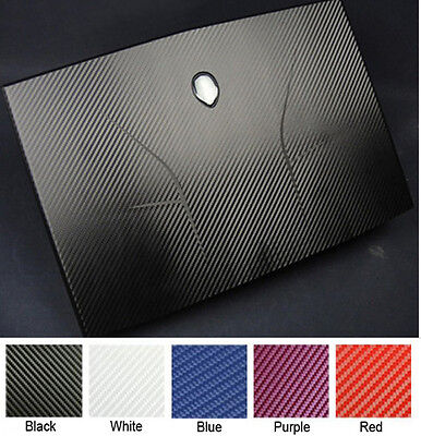 KH Laptop Carbon fiber Leather Sticker Skin Cover for Alienware M14X R1 R2 2012