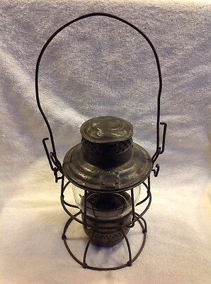 Vintage Chicago Burlington & Quincy Railroad Adlake-Kero 4-33 Kerosene Lantern!