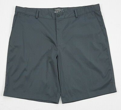 Nike Golf Tour Performance Mens Tech Solid Gray Flat Front Shorts 42