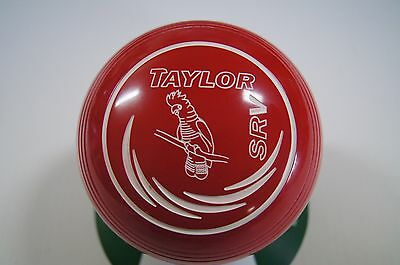 New Taylor SRV Lawn Bowls, Bag & Cloth Package - Red - Size 2 - WB26