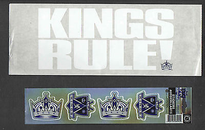 Lot Of 2 Diff La Kings Decal Stickers Nhl Hockey