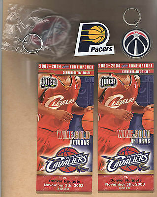 Lot Of 5 Cavaliers Pacers Wizards Magnet Keychain Comm Tickets Nba Basketball