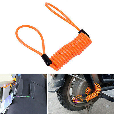 Anti-theft Security Rope Motorcycle Bike Scooter Luggage Alarm Disc Lock Padlock