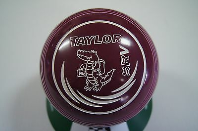 New Taylor SRV Lawn Bowls, Bag & Cloth Package - Plum - Size 2 - WB26