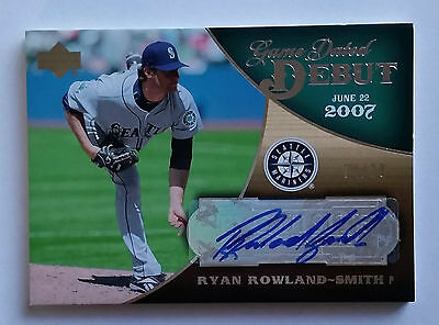 Ryan Rowland-Smith 2007 Upper Deck Exquisite Game Dated Debut Rookie Auto 04/20